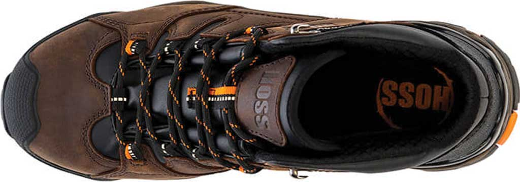 Men's Hoss Boots Tracker Mid Cut Composite Toe Hiking Boot, Brown Full Grain Crazy Horse Leather, large, image 3