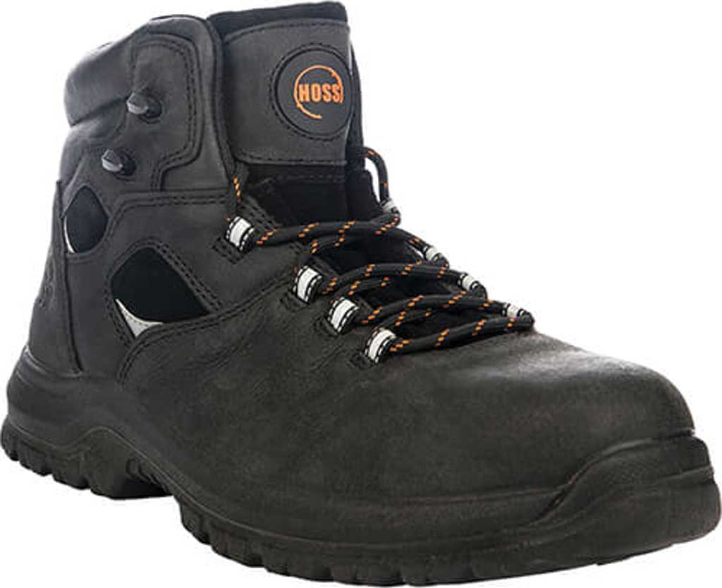 "Men's Hoss Boots Lorne 6"" Composite Toe Boot, Black Full Grain Tumbled Success Leather, large, image 1"