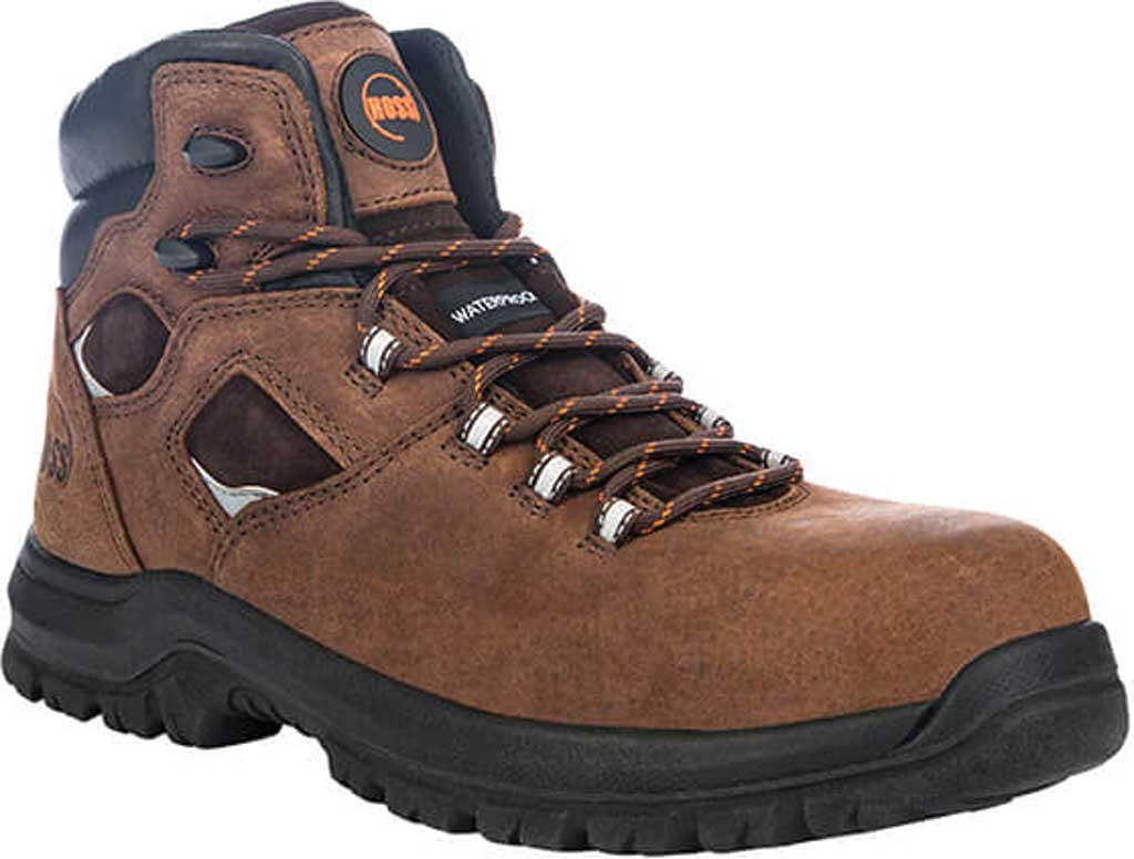 """Men's Hoss Boots Lorne 6"""" Composite Toe Boot, Brown Full Grain Tumbled Success Leather, large, image 1"""