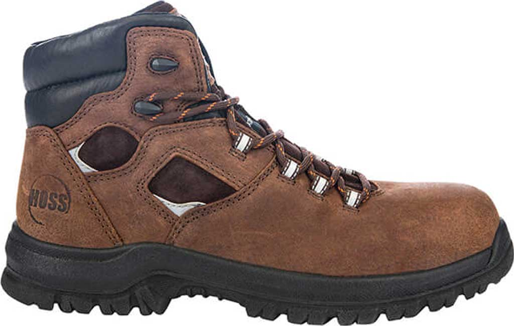 """Men's Hoss Boots Lorne 6"""" Composite Toe Boot, Brown Full Grain Tumbled Success Leather, large, image 2"""