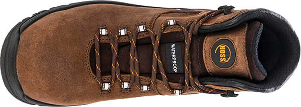 """Men's Hoss Boots Lorne 6"""" Composite Toe Boot, Brown Full Grain Tumbled Success Leather, large, image 3"""