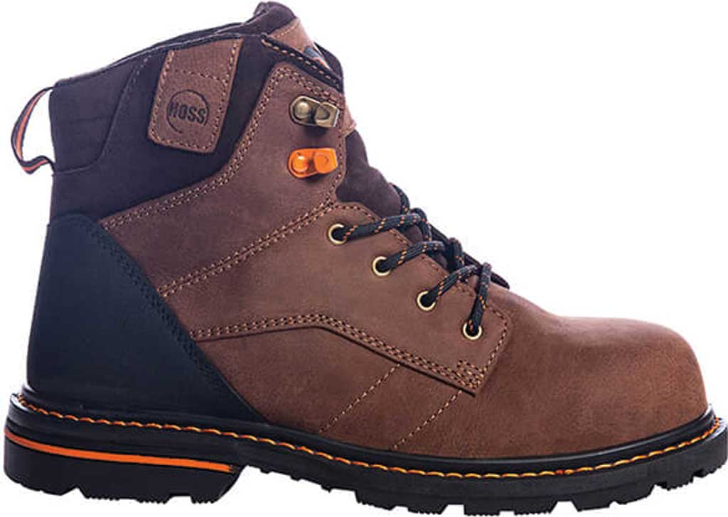 """Men's Hoss Boots Carson 6"""" Soft Toe Work Boot, Brown Full Grain Tumbled Success Leather, large, image 2"""