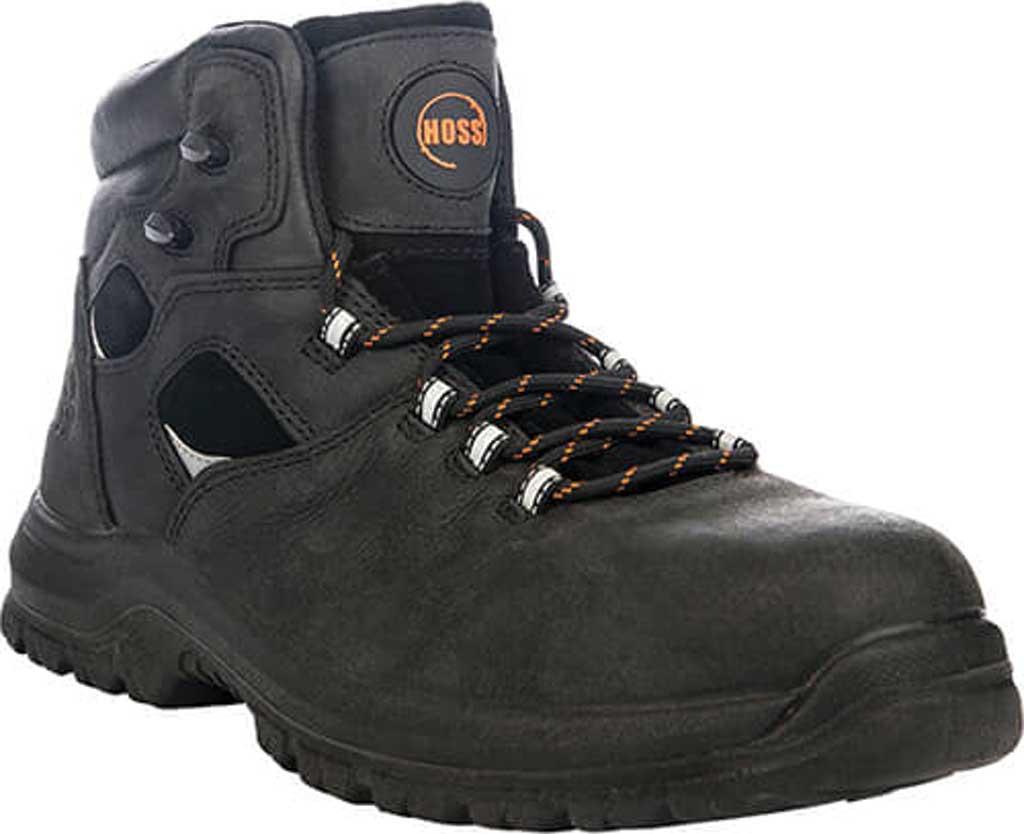 "Men's Hoss Boots Lorne 6"" Soft Toe Work Boot, Black Full Grain Tumbled Success Leather, large, image 1"