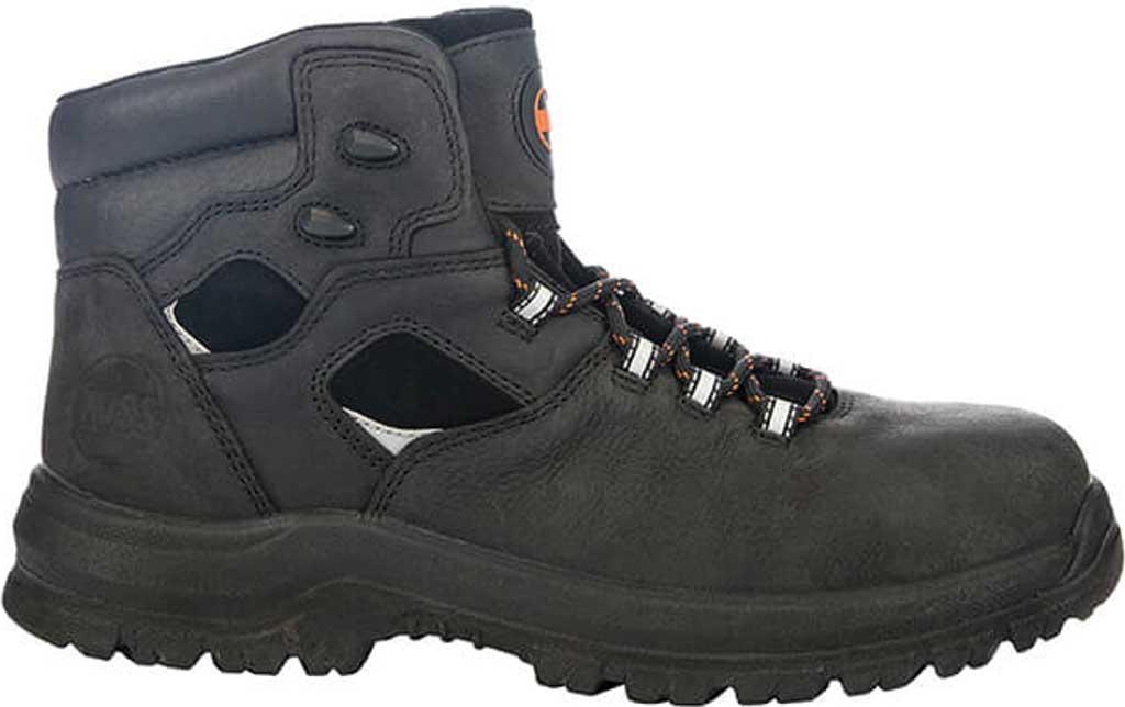 "Men's Hoss Boots Lorne 6"" Soft Toe Work Boot, Black Full Grain Tumbled Success Leather, large, image 2"