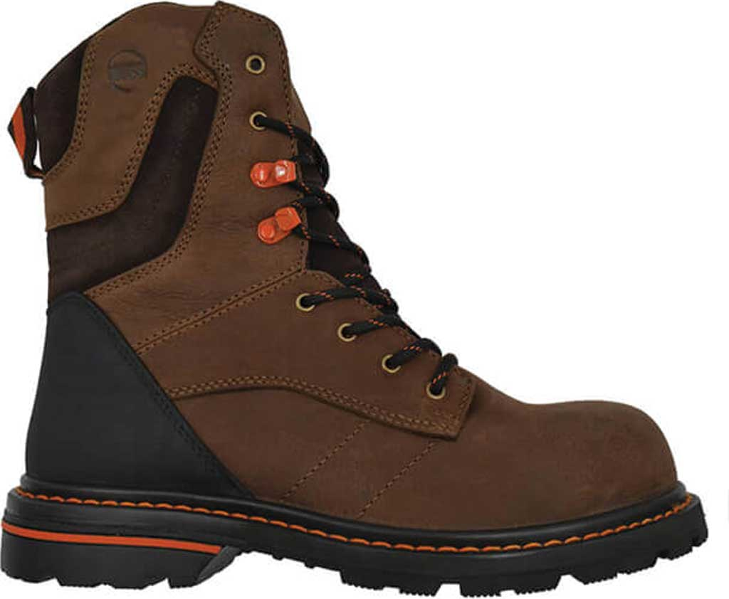 """Men's Hoss Boots Carson 8"""" Composite Toe Work Boot, Brown Full Grain Tumbled Success Leather, large, image 1"""