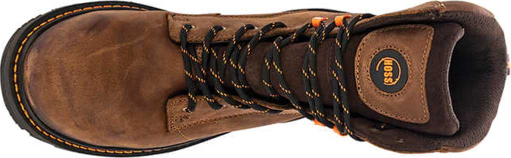 """Men's Hoss Boots Carson 8"""" Composite Toe Work Boot, Brown Full Grain Tumbled Success Leather, large, image 2"""