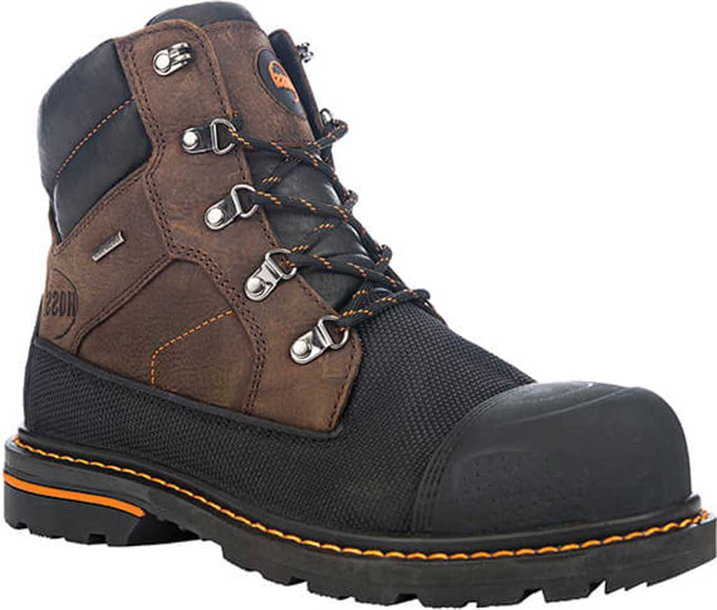 "Men's Hoss Boots K-Tough 6"" Waterproof Composite Toe Boot, Kevlar/Muddy River Full Grain Leather, large, image 1"