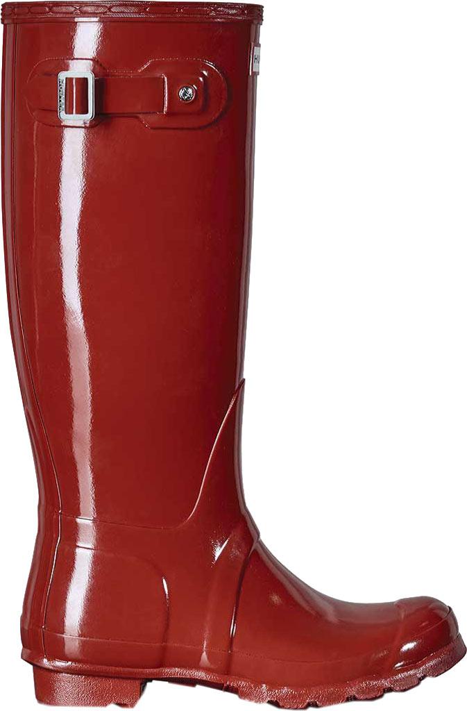 Women's Hunter Original Tall Gloss Rain Boot, Military Red, large, image 1