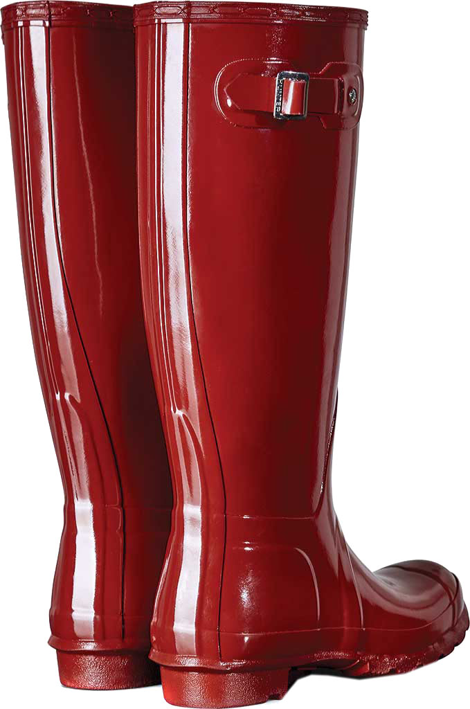 Women's Hunter Original Tall Gloss Rain Boot, Military Red, large, image 2