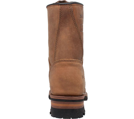"""Women's AdTec 2426 9"""" Steel Toe Logger Boot, Brown Leather, large, image 4"""