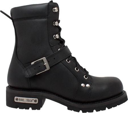 "Men's Ride Tecs 9146 8"" Zipper Lace Boot, Black Leather, large, image 2"