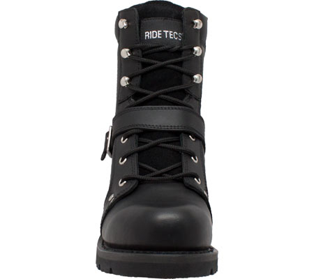 "Men's Ride Tecs 9146 8"" Zipper Lace Boot, Black Leather, large, image 3"