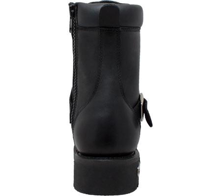 "Men's Ride Tecs 9146 8"" Zipper Lace Boot, Black Leather, large, image 4"