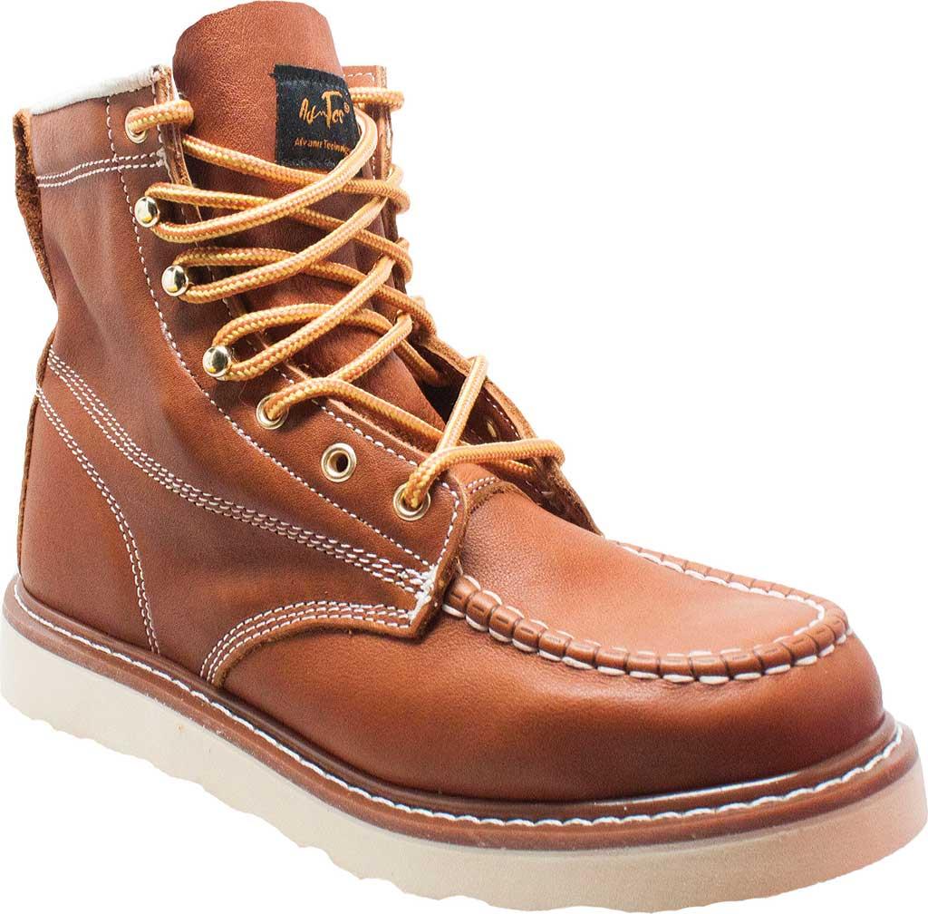 """Men's AdTec 9238L 6"""" Moc Toe Work Boot, Brown Full Grain Leather, large, image 1"""