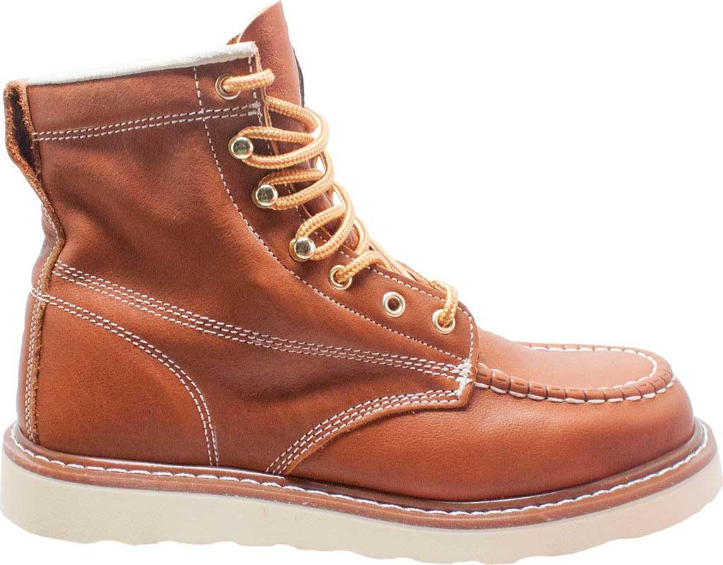 """Men's AdTec 9238L 6"""" Moc Toe Work Boot, Brown Full Grain Leather, large, image 2"""