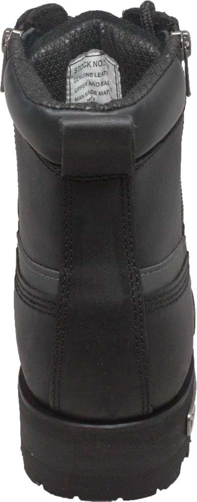 "Men's Ride Tecs 9797 6"" Reflective Double Zipper Biker Boot, Black Full Grain Leather, large, image 3"