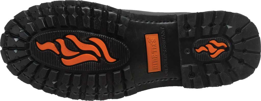 "Men's Ride Tecs 9797 6"" Reflective Double Zipper Biker Boot, Black Full Grain Leather, large, image 4"