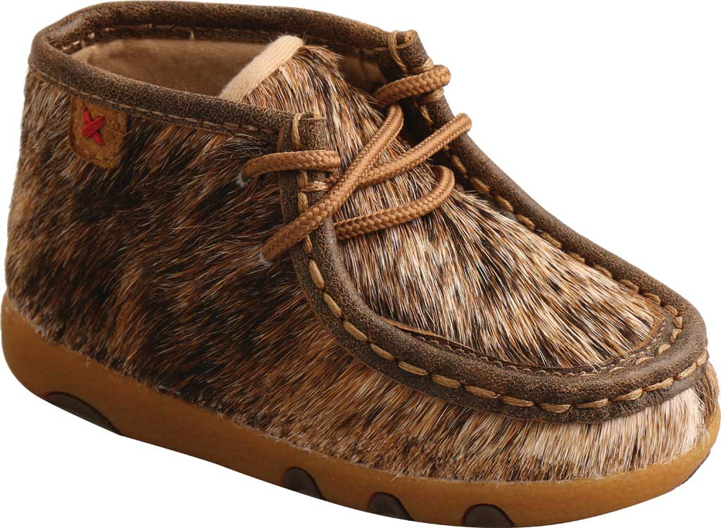 Infant Twisted X ICA0015 Chukka Driving Moc, Light Brindle Hair/Full Grain Leather, large, image 1