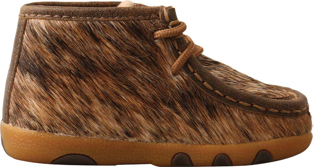 Infant Twisted X ICA0015 Chukka Driving Moc, Light Brindle Hair/Full Grain Leather, large, image 2