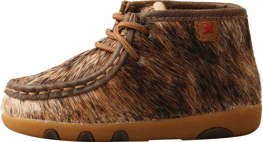 Infant Twisted X ICA0015 Chukka Driving Moc, Light Brindle Hair/Full Grain Leather, large, image 3