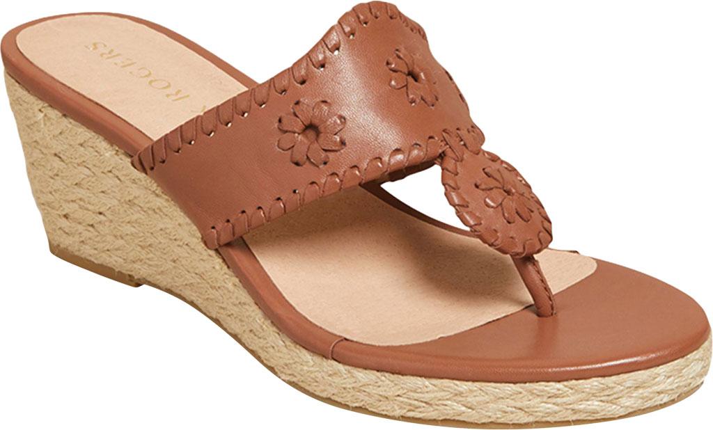Women's Jack Rogers Jacks Wedge Sandal, Mocha Leather, large, image 1