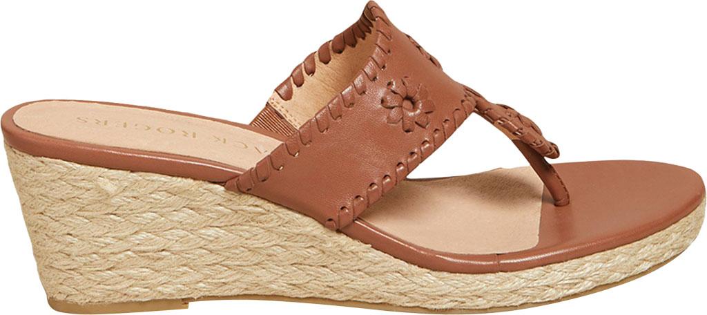 Women's Jack Rogers Jacks Wedge Sandal, Mocha Leather, large, image 2
