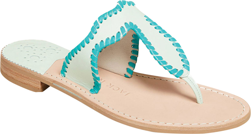 Women's Jack Rogers Jackie Thong Sandal, Mint Leather, large, image 1