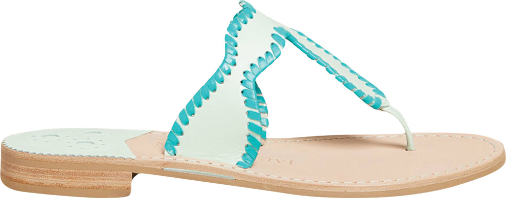 Women's Jack Rogers Jackie Thong Sandal, Mint Leather, large, image 2