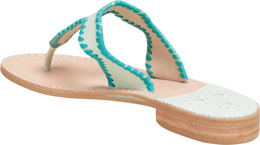 Women's Jack Rogers Jackie Thong Sandal, Mint Leather, large, image 3