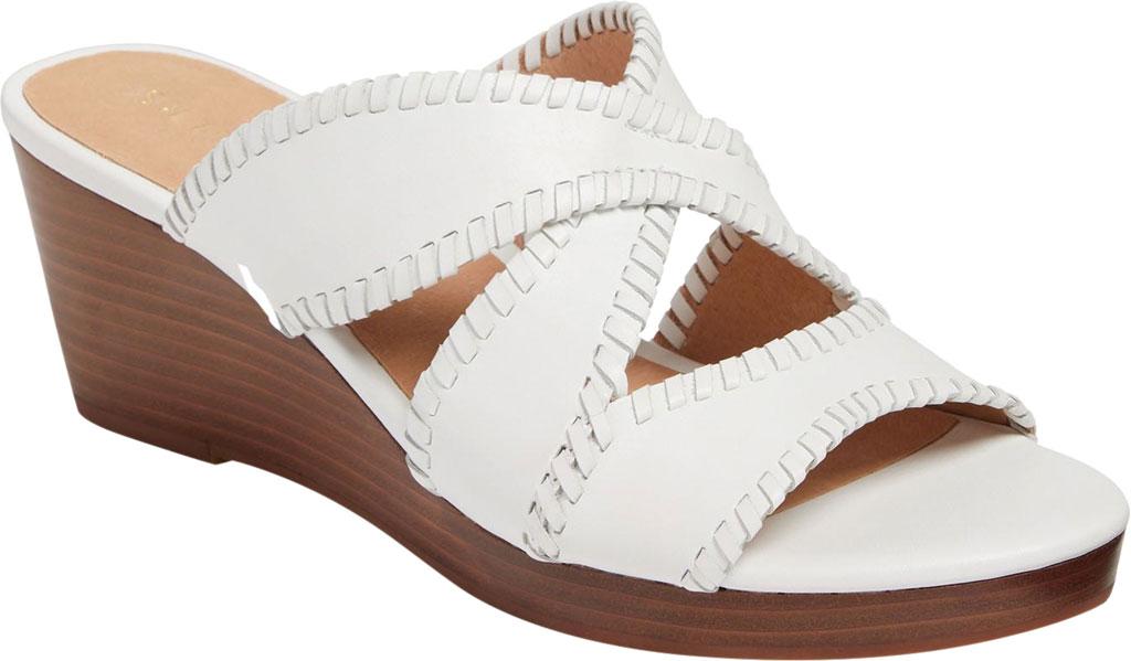 Women's Jack Rogers Jackie Mid Wedge Slide, White Leather, large, image 1