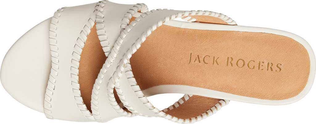 Women's Jack Rogers Jackie Mid Wedge Slide, White Leather, large, image 4