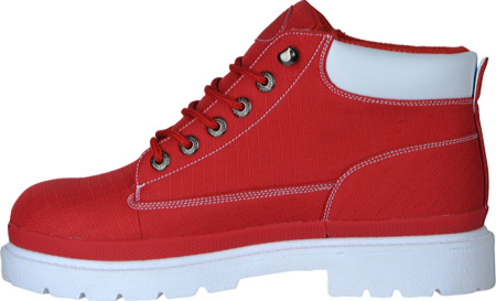 Men's Lugz Drifter Ripstop, Red/White Textile, large, image 3