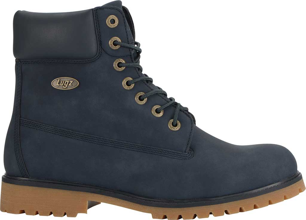 "Men's Lugz Convoy Water Resistant 6"" Work Boot, Navy/Gum Synthetic, large, image 2"