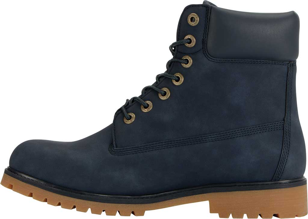 "Men's Lugz Convoy Water Resistant 6"" Work Boot, Navy/Gum Synthetic, large, image 3"