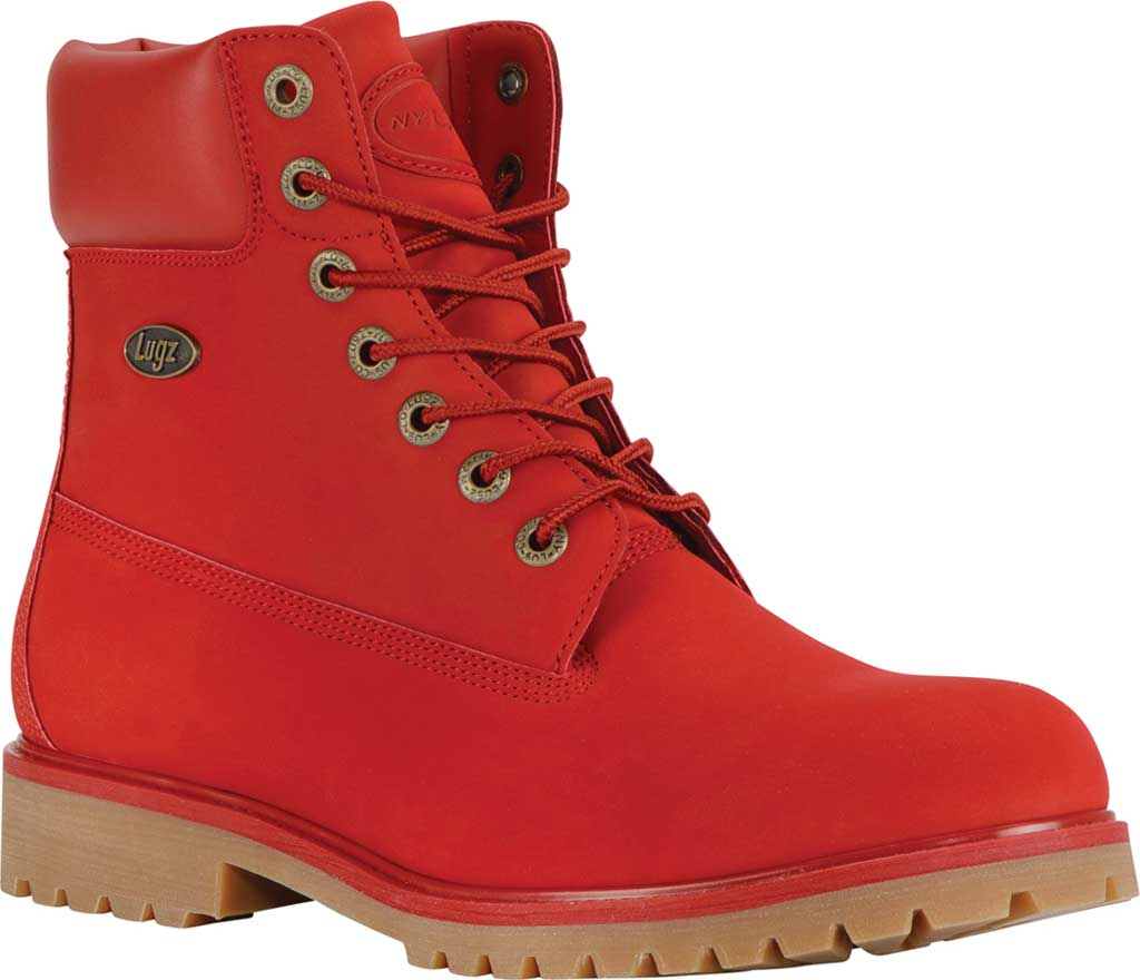 "Men's Lugz Convoy Water Resistant 6"" Work Boot, Mars Red/Gum Synthetic, large, image 1"