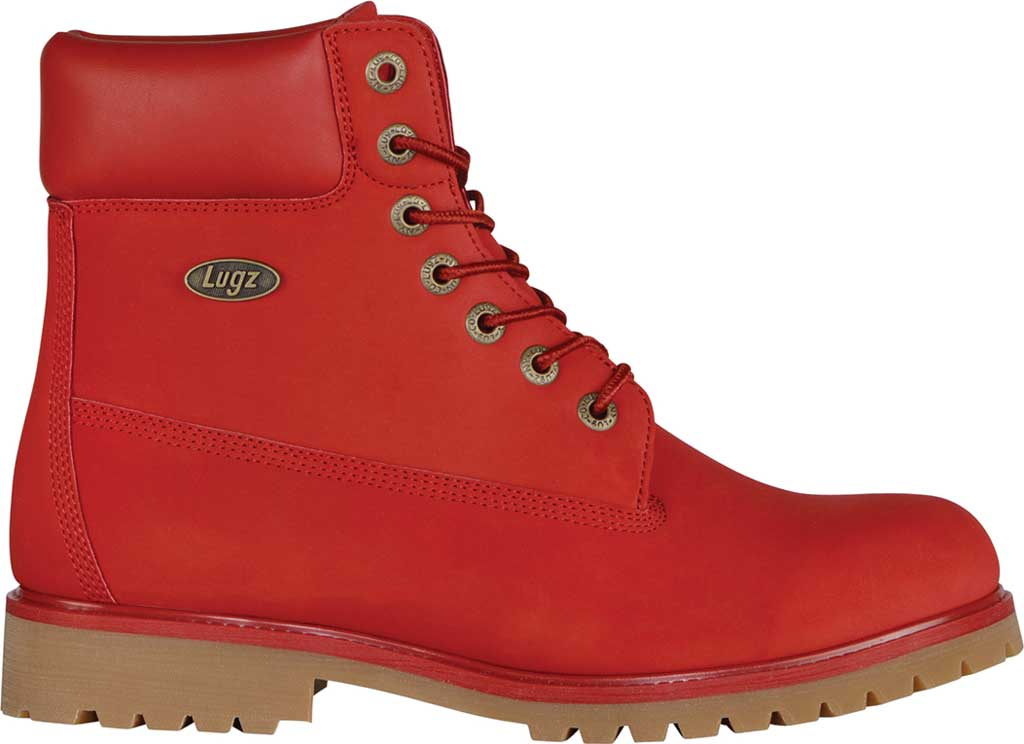 "Men's Lugz Convoy Water Resistant 6"" Work Boot, Mars Red/Gum Synthetic, large, image 2"