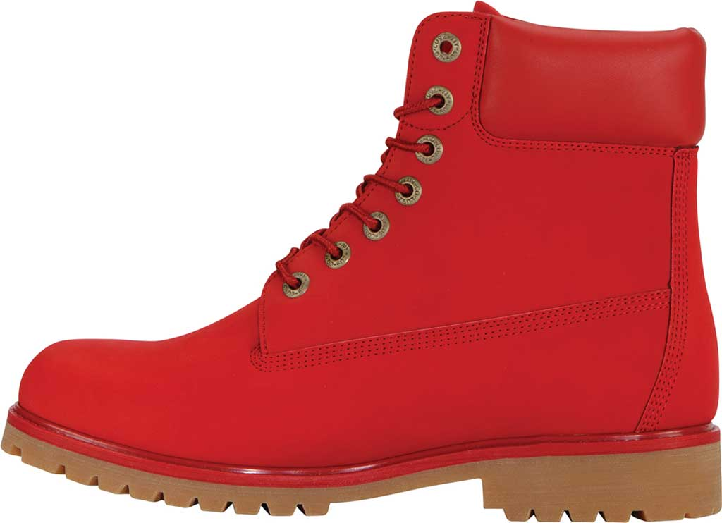 "Men's Lugz Convoy Water Resistant 6"" Work Boot, Mars Red/Gum Synthetic, large, image 3"