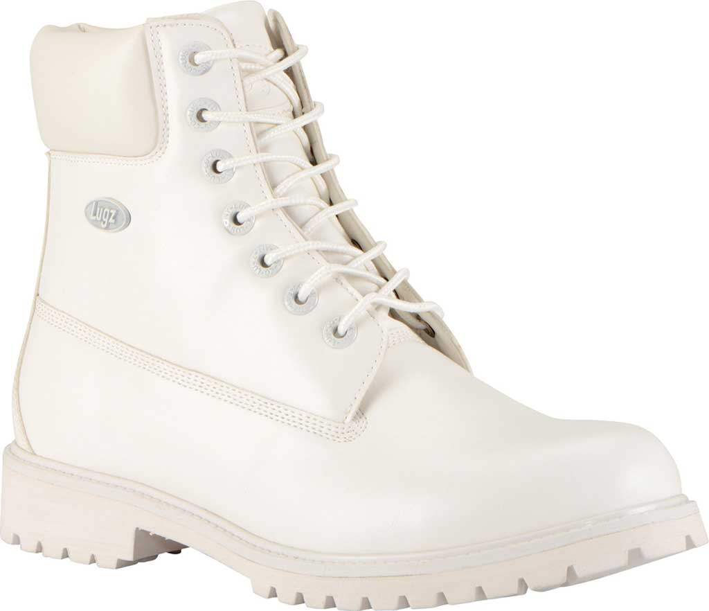 """Men's Lugz Convoy Water Resistant 6"""" Work Boot, White Synthetic Leather, large, image 1"""