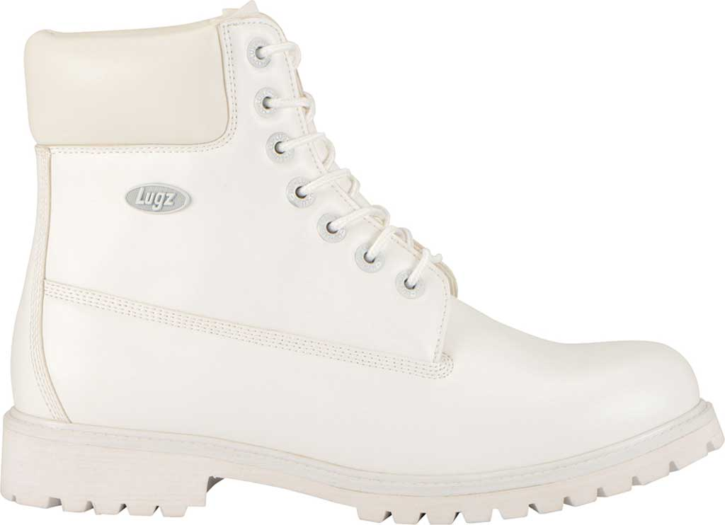 """Men's Lugz Convoy Water Resistant 6"""" Work Boot, White Synthetic Leather, large, image 2"""