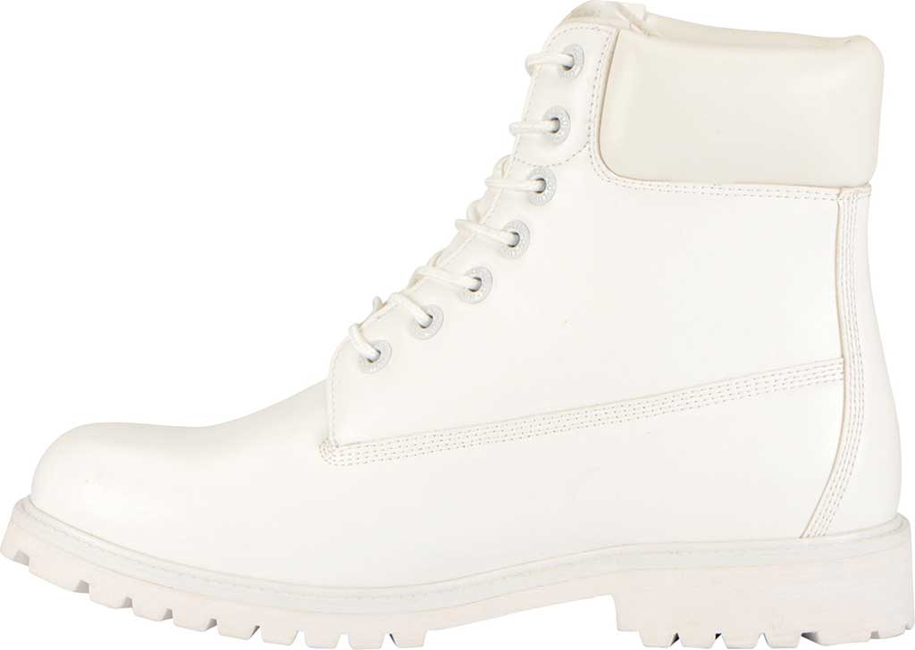 """Men's Lugz Convoy Water Resistant 6"""" Work Boot, White Synthetic Leather, large, image 3"""