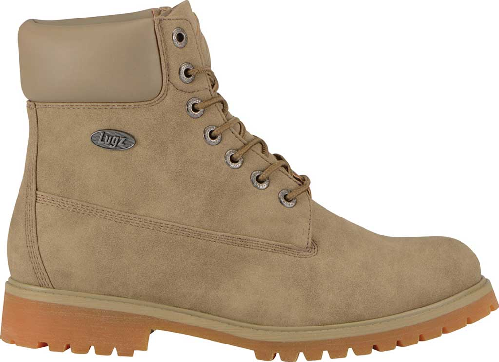 """Men's Lugz Convoy Water Resistant 6"""" Work Boot, Wet Sand/Gum Synthetic Suede, large, image 2"""