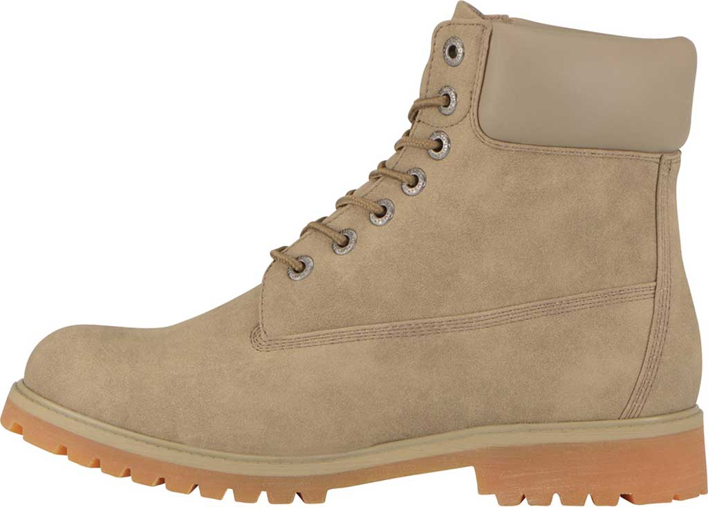 """Men's Lugz Convoy Water Resistant 6"""" Work Boot, Wet Sand/Gum Synthetic Suede, large, image 3"""