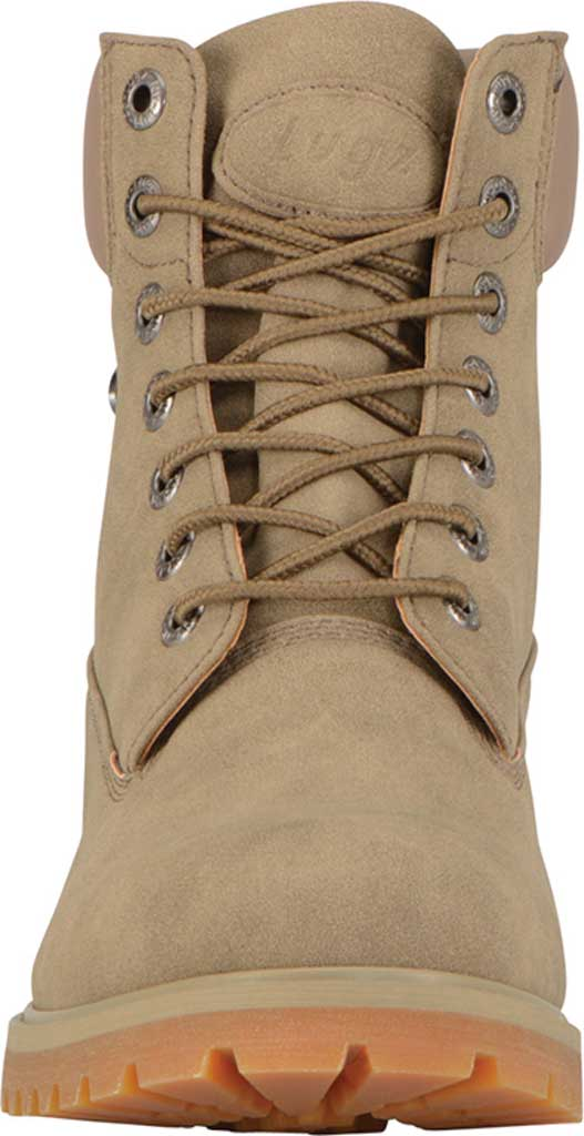 """Men's Lugz Convoy Water Resistant 6"""" Work Boot, Wet Sand/Gum Synthetic Suede, large, image 4"""