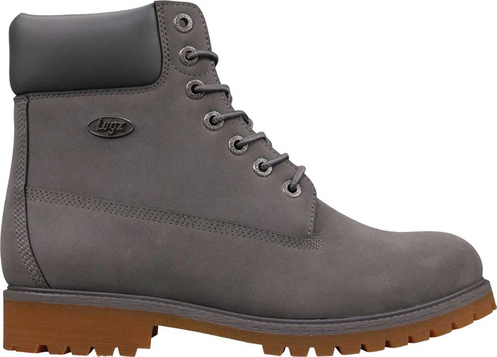 """Men's Lugz Convoy Water Resistant 6"""" Work Boot, Charcoal/Gum Thermabuck, large, image 2"""