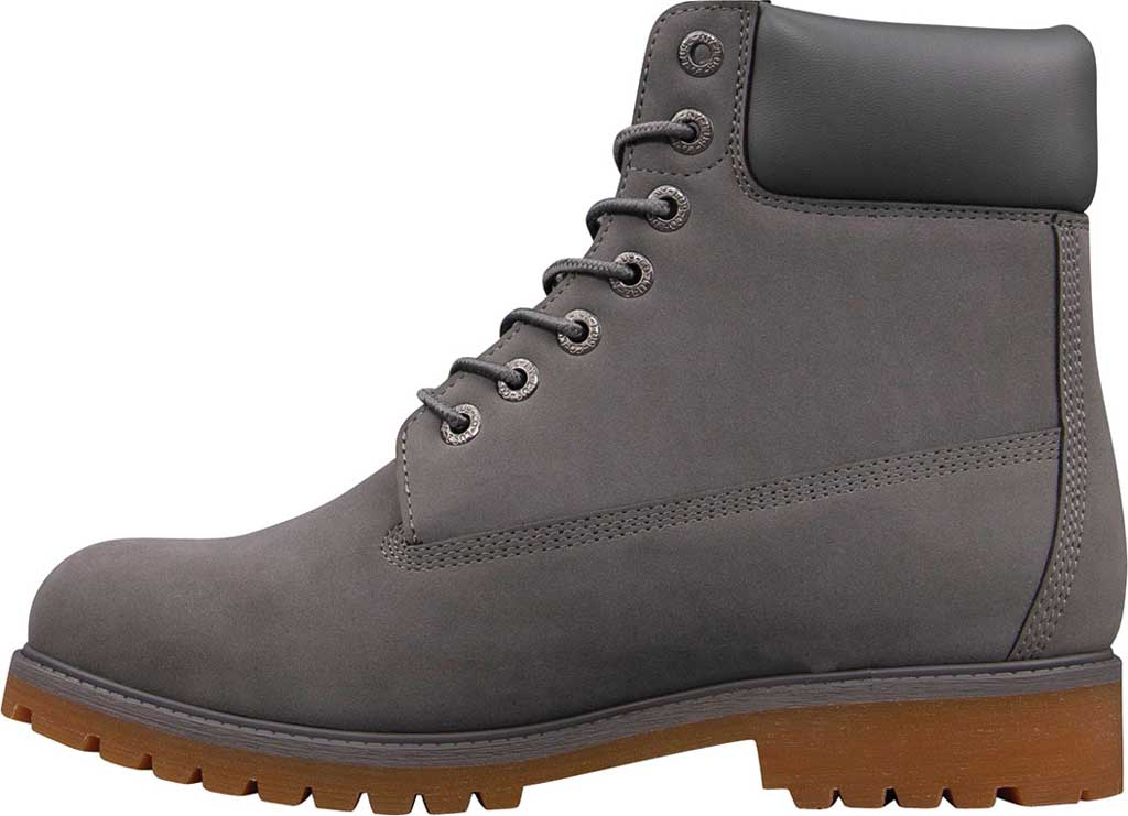 """Men's Lugz Convoy Water Resistant 6"""" Work Boot, Charcoal/Gum Thermabuck, large, image 3"""