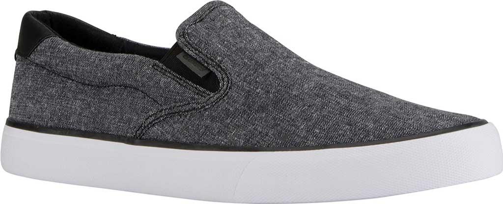 Men's Lugz Clipper Slip On Oxford Sneaker, Black/White Canvas, large, image 1