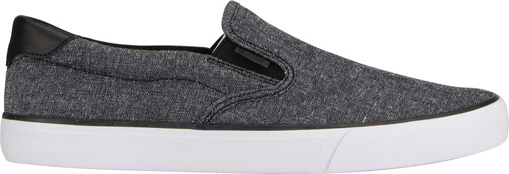 Men's Lugz Clipper Slip On Oxford Sneaker, Black/White Canvas, large, image 2