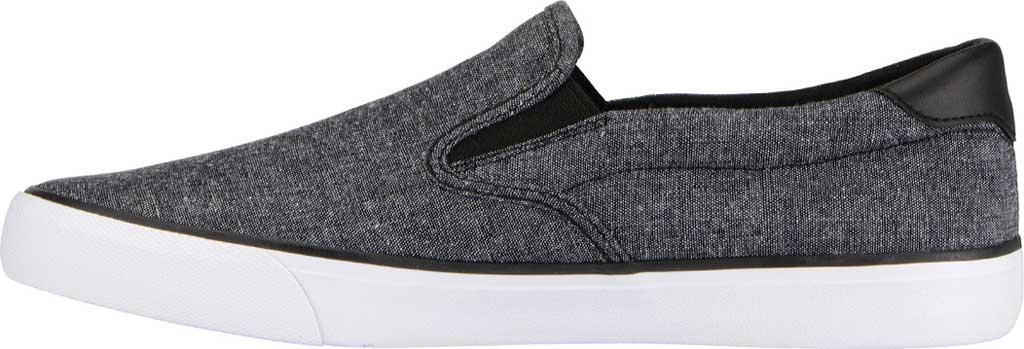 Men's Lugz Clipper Slip On Oxford Sneaker, Black/White Canvas, large, image 3