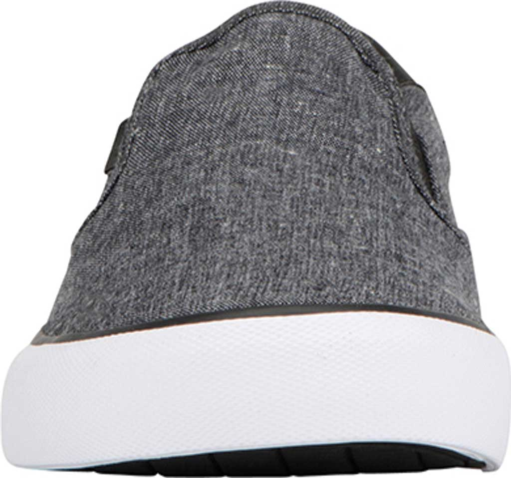Men's Lugz Clipper Slip On Oxford Sneaker, Black/White Canvas, large, image 4