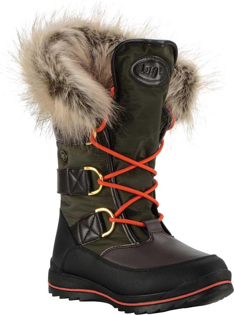 Women's Lugz Tundra Winter Boot, Dark Brown/Olive/Orange/Black Synthetic Nubuck, large, image 1